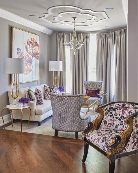Vaughan Renovation Luxury Living Room Design