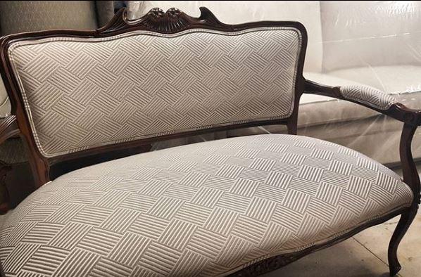 reupholster settee